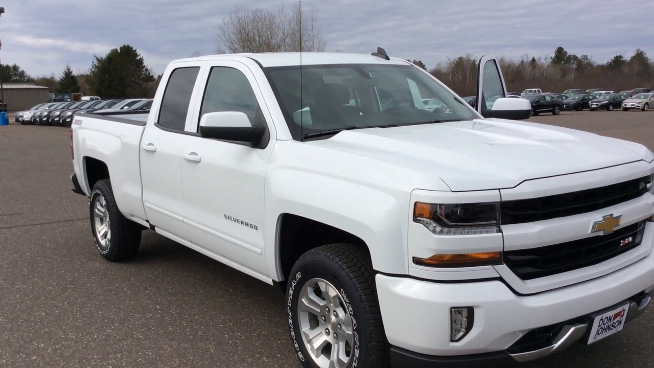 2017 chevrolet silverado double cab lt white z71 h17142 youtube. Black Bedroom Furniture Sets. Home Design Ideas