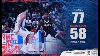 France Argentina 77-58 Preparation game highlights for FIBA Basketball World Cup 2019, August 17