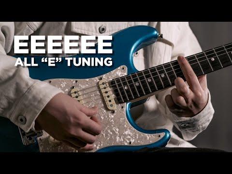 Play in EEEEEE tuning