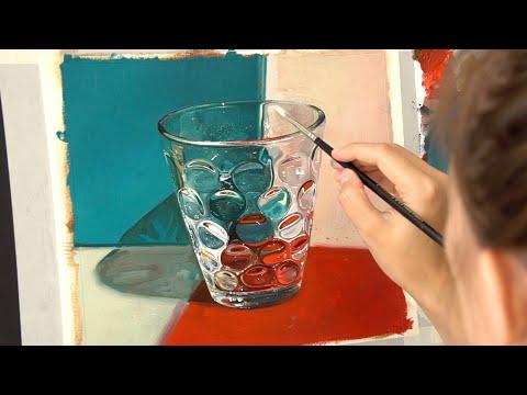 Как рисовать реалистично стекло ? Тестируем масляные краски от Jackson's Art