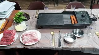 가정용 캠핑 전기 와이드 그릴 대형 명절 고기 굽는 불…