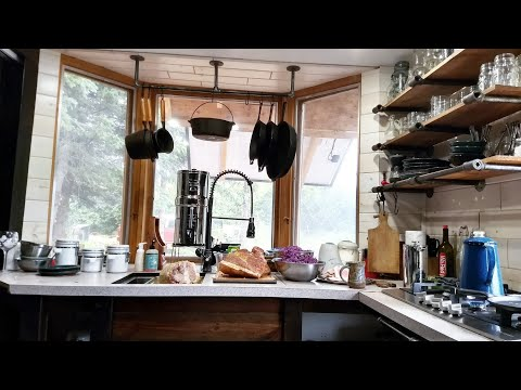 Offgrid tiny house kitchen tour in Alaska