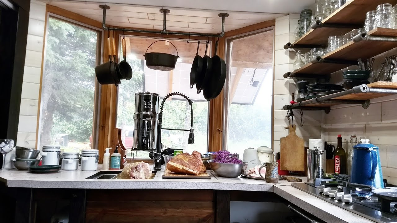 Modern Off Grid Tiny House Kitchen Tour In Alaska Youtube