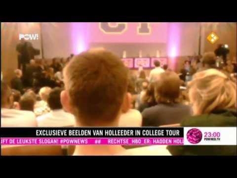 Verborgen camer beelden van Willem Holleeder in College Tour