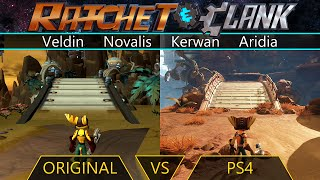Ratchet & Clank - Original vs PS4 - Veldin | Novalis | Kerwan | Aridia
