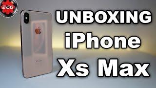 iPhone XS MAX Gold 256GB unboxing en español