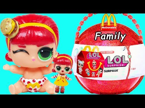 LOL Surprise McDonalds Lil Sister & Happy Meal Toys | Toy Egg Videos