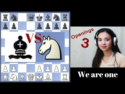 Free Short Chess Lessons 3 - Knight or Bishop in Opening