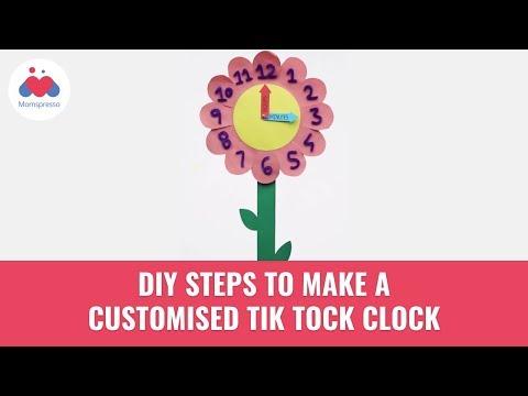 How To Make A TikTok Clock From Paper | DIY | Origami Crafts | Momspresso