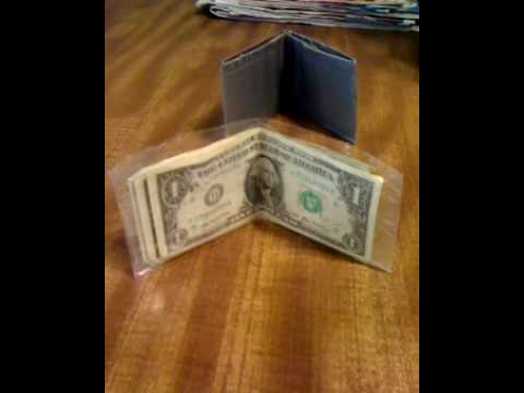 CLEAR duct tape wallet
