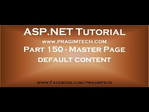 Part 150   Default Content In Contentplaceholder Of A Master Page In Asp Net