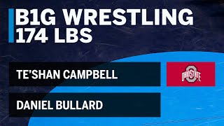 174 LBS: Daniel Bullard (NC State) vs. Te'Shan Campbell (Ohio State) | 2019 B1G Wrestling