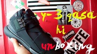 d1e12df56096e Unboxing  Adidas Yohji Yamamoto Y-3 Qasa High Triple Black + On Feet