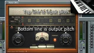 FLStudio Tutorial: Realtime Vocal Correction with Midi input.