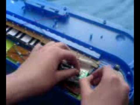 Circuit bending a Argos toy keyboard.