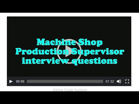 manufacturing supervisor interview questions
