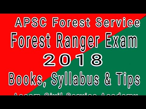APSC Forest Ranger Exam 2018 | Books & Syllabus