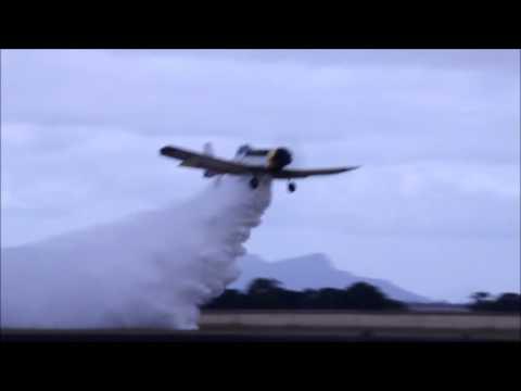 PZL-Mielec M-18 Dromader on a practice water bombing run at Hamilton Victoria Australia