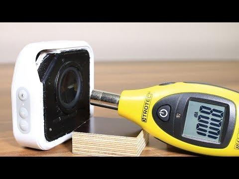 TDK A12 portable speaker sound bass excursion test
