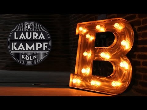 Laura´s Giant Steel Letters