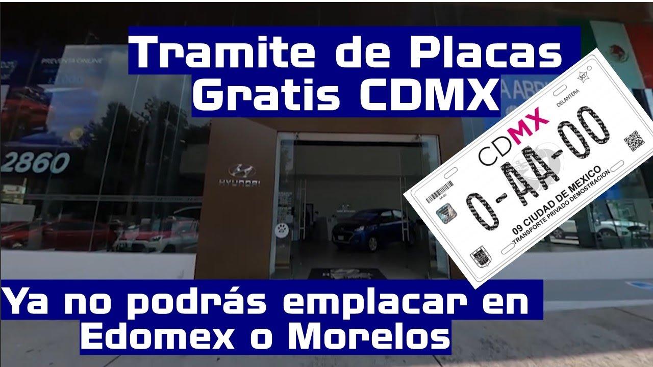 Alta de placas de Autos nuevos 2020 será través de Agencias en CDMX