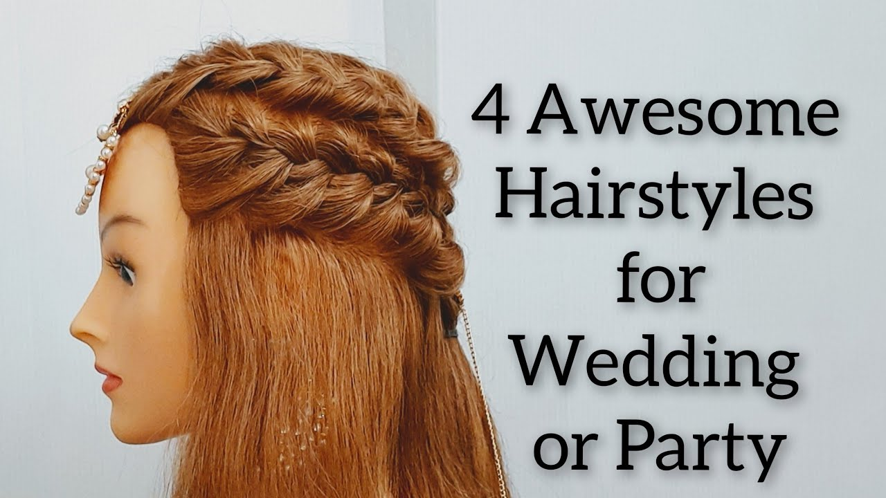 4 Beautiful Open Hairstyles for Wedding or Party : Easy Half up Open Hairstyles : Hair Style Girl