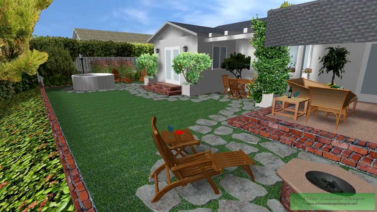 Cad 3d cottage garden day youtube for Garden design 3d online