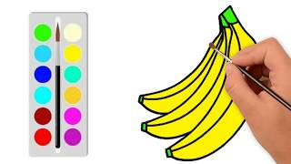 Banana Coloring Page | How to Draw Banana Easily Step By Step | Learn Color | colorsMA