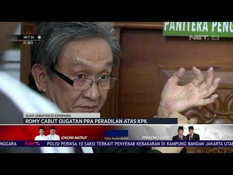 Romy Cabut Gugatan Pra Peradilan Atas KPK-  NET24