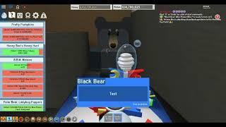 Weird Black Bear dialogue error (Bee Swarm Simulator - Roblox)
