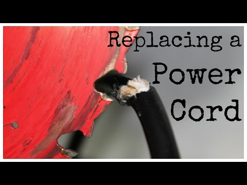 How to Replace a Damaged Power Cord - Circular Saw, Drill, Router, Power Tools