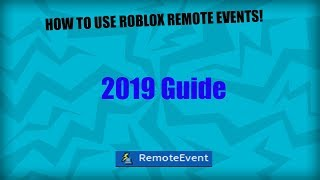 Remote Events - How to use remote events on ROBLOX!