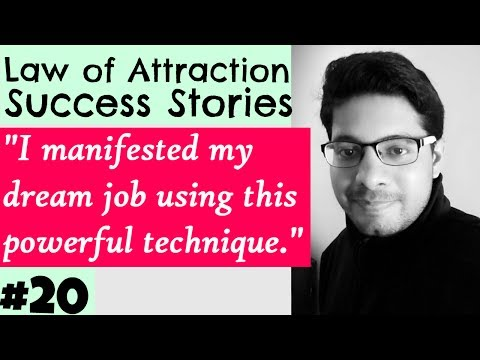 MANIFESTATION #20: Attracted Dream Job using Powerful Technique - Law of Attraction Success Series