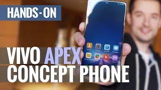 Fingerprint reader that spans half the screen?! Vivo APEX concept phone hands-on