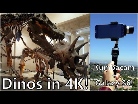 DINOSAURS in 4K! LA Natural History Museum  (Shot on Galaxy S6 with KumbaCam Stabilizer)