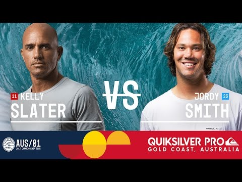 Kelly Slater vs. Jordy Smith - Quiksilver Pro Gold Coast 2017 Round Five, Heat 4