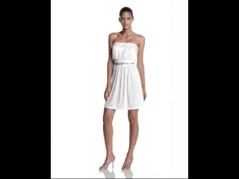 Halston Heritage Strapless Draped Dress
