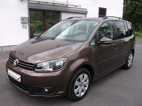 vw touran 1 6 tdi bluemotion comfortline toffeebraun metallic youtube. Black Bedroom Furniture Sets. Home Design Ideas