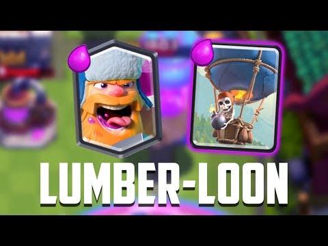 Clash Royale Greek - Lumberloon deck!!!!