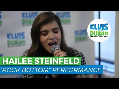 "Hailee Steinfeld - ""Rock Bottom"" Acoustic | Elvis Duran Live"