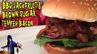Bbq Jackfruit & Tempeh Bacon Sandwich | Vegan