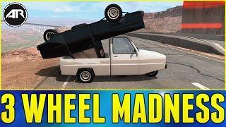 BeamNG.Drive - 3 Wheel Madness!!