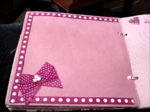 Mi primer mini album scrapbook youtube - Como hacer un album scrapbook ...