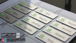 Neon UV-LED Printer - Custom Name Badges