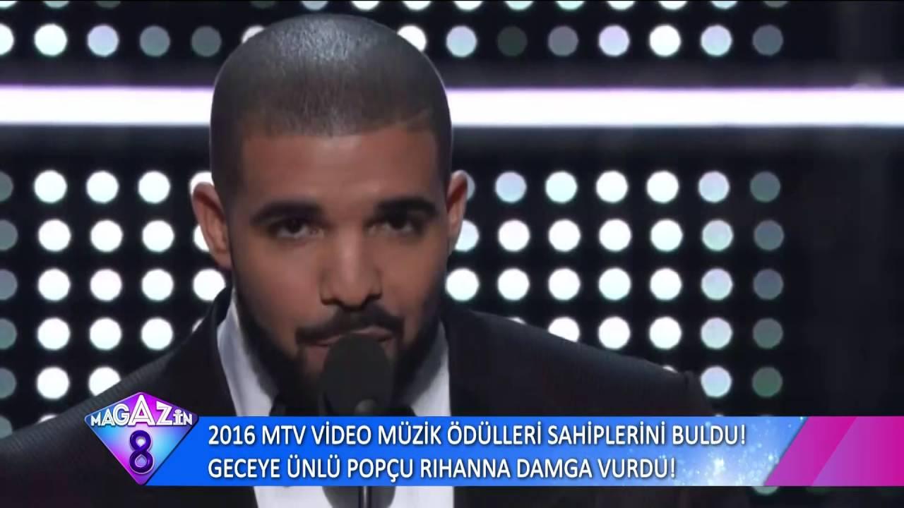 2016 MTV Video Müzik Ödülleri Sahiplerini Buldu Geceye Ünlü Popçu Rihanna Damga Vurdu