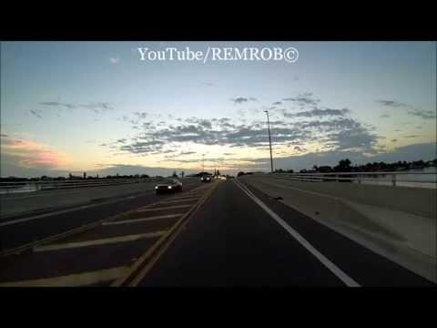 Driving Belleair Florida Causeway Bridge East & West