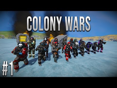 Space Engineers - Colony WARS! - Ep #1 - Surviving a CRASH!