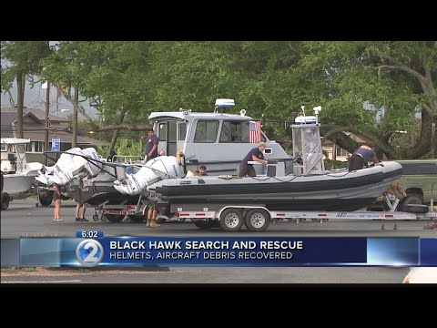 Crews expand search area for five soldiers following offshore Black Hawk crash