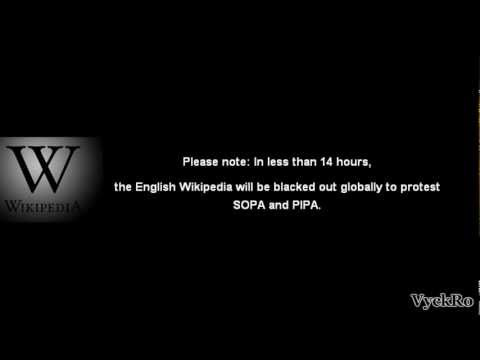 English Wikipedia to go dark January 18 in opposition to SOPA & PIPA