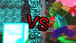 【マイクラアニメ】ゾンビVS鉄ドア【Minecraft・マインクラフトアニメ】